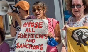 People protest against benefit cuts