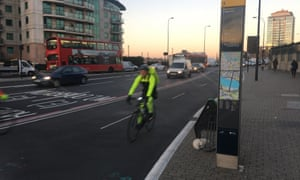 Cycle superhighway 5, Vauxhall Bridge.