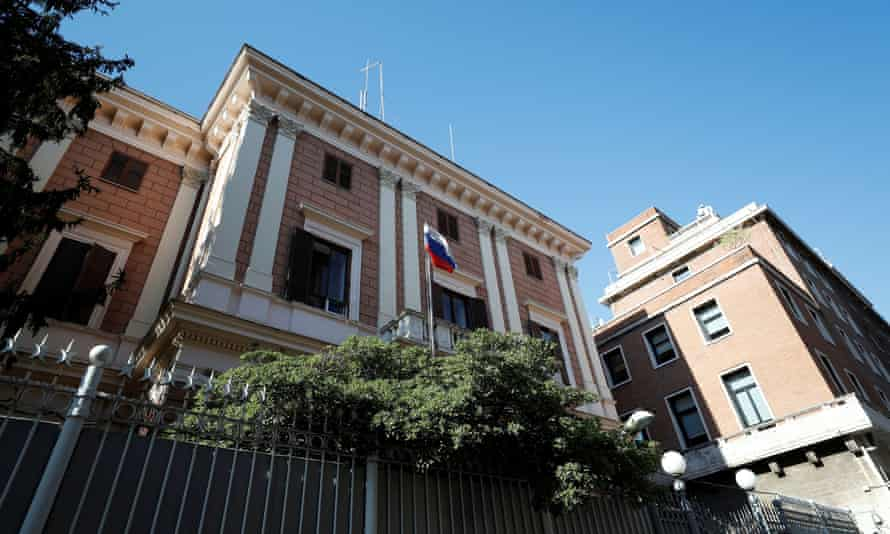 The Russian embassy in Rome