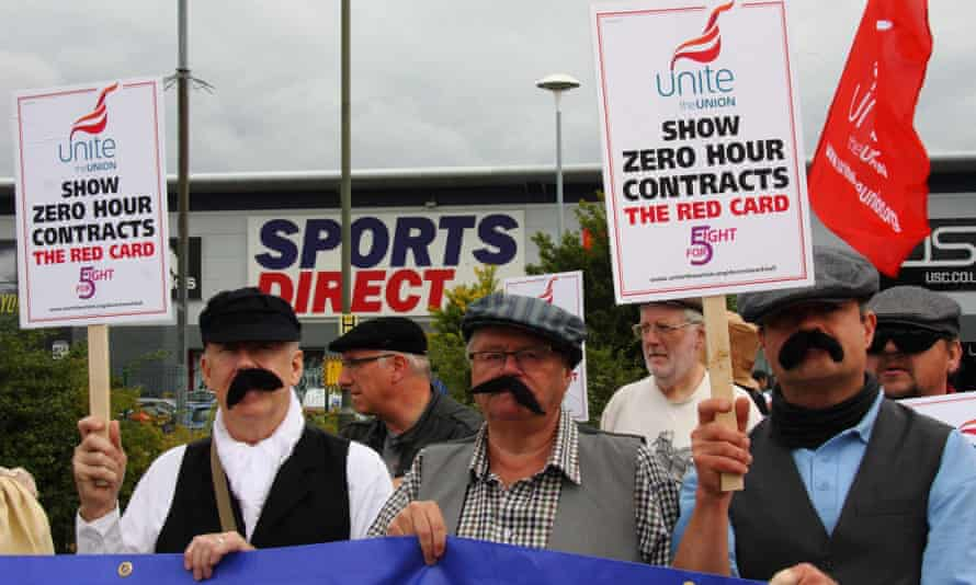 Sports Direct pay protest.