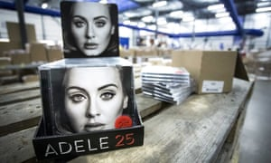 Adele's album 25 at a distribution centre