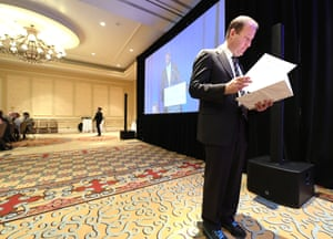 Governor Jared Polis, before delivering a State of the State address in the Antlers hotel ballroom.