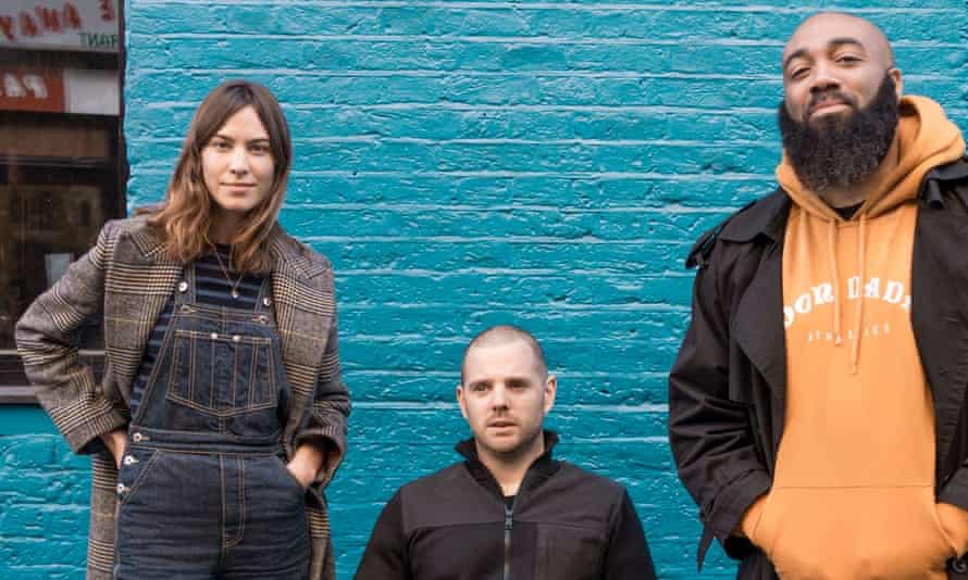 Alexa Chung with Mike Skinner and Murkage Dave.