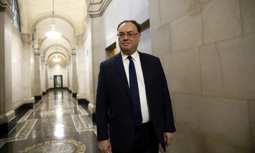 Andrew Bailey, governor of the Bank of England: