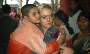 Lohan in India, between bouts of tears