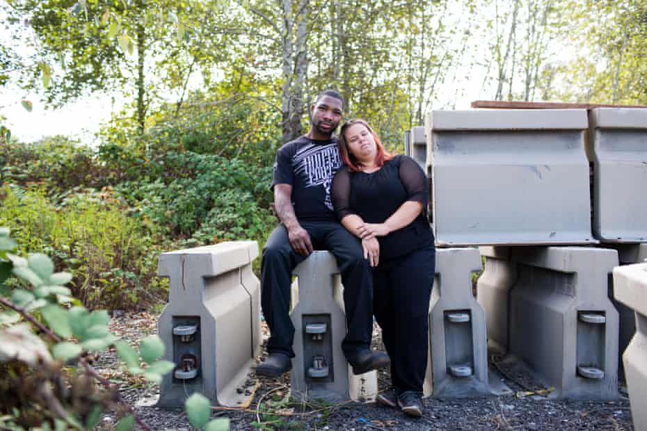 Homeless couples, Chris and Jackie. For Outside in America