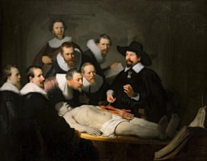 Rembrandt's The Anatomy Lesson of Dr Nicolaes Tulp.