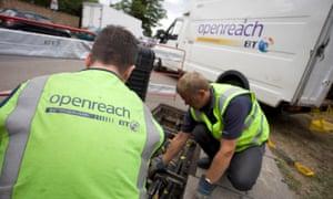 BT Openreach workers