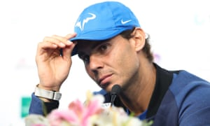 Rafael Nadal at the press conference in Beijing