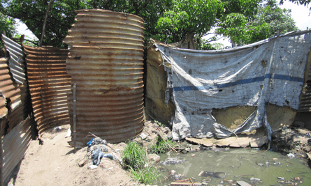 A latrine in Mozambique, where Ian Ross conducted his research.