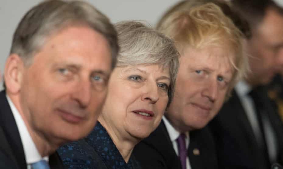 Philip Hammond, Theresa May and Boris Johnson