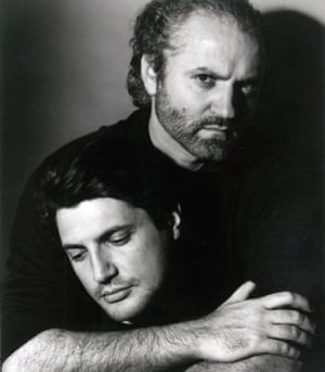Antonio D'Amico, left, with his late lover Gianni Versace