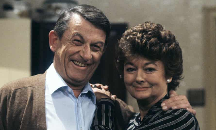 Sylvia Kay and John Ringham in Just Good Friends, which first aired in 1983. They played the posh parents of Penny (Jan Francis) who regard their daughter's boyfriend Vince (Paul Nicholas) as a wideboy.