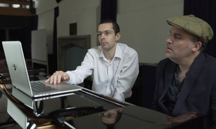 Dr Nick Collins from Durham University introduces Benjamin Till to Android Lloyd Webber, the algorithmic composition software he has created.