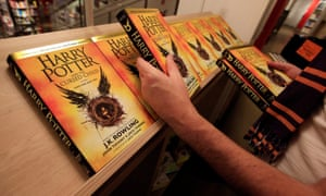 the script of Harry Potter and the Cursed Child going on display at Foyles bookshop in London.