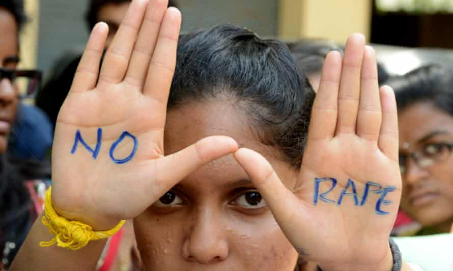 Indian students join an anti-rape protest in Hyderabad in September 2013.