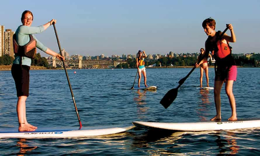 Standup paddleboarding in Vancouver