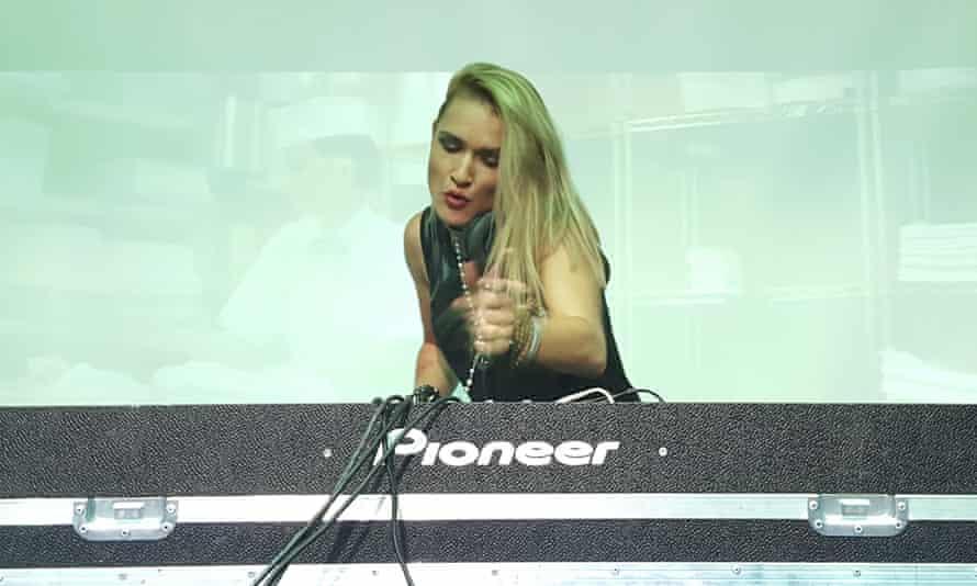 DJ Solntse on the decks at Samara's only gay club night
