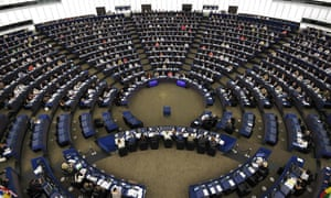 A voting session at the European parliament in Strasbourg