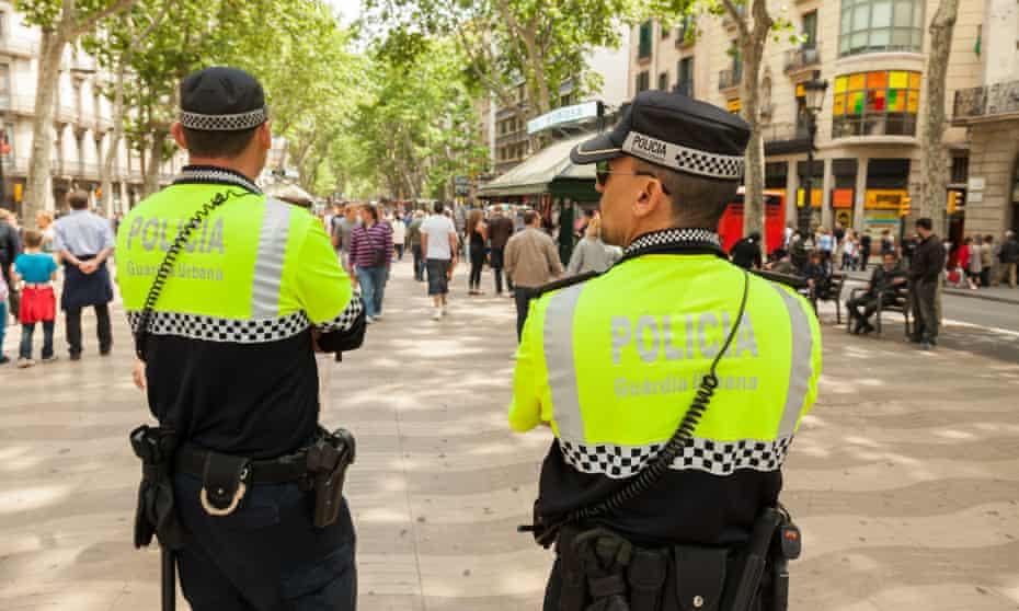 Policing Las Ramblas in Barcelona