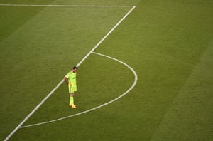 Gianluigi Buffon looks dejected after Real Madrid's fourth goal.