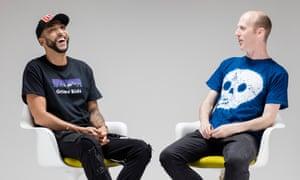 DJ Target and Dan Hancox in conversation.