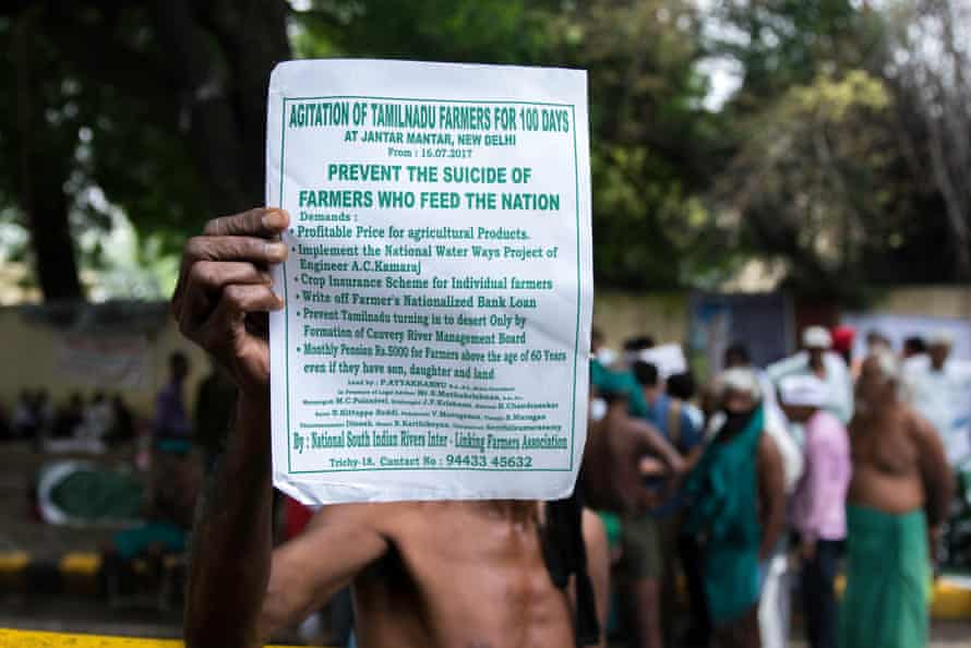 Tamil Nadu is suffering its worst drought in 140. Protestors claim it has triggered hundreds of suicides.
