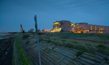 The location of the Bradwell nuclear power station in Essex.