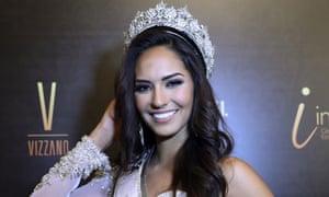 """Miss Peru 2017, Romina Lozano, on October 29, 2017, at the Municipal Theatre of Lima"""