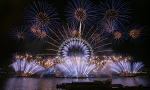 Unicef wishes London a #HappyBlueYear by adding a hint of blue to the fireworks display to support their current campaign.