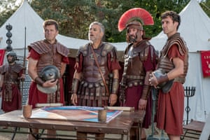 Tough rap … Graves, second left, with fellow Rotten Romans in the Horrible Histories movie.