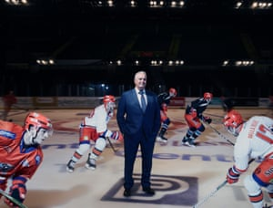 Owner of Sheffield Steelers, Tony Smith shot for OM at Motorpoint Arena Sheffield with the players