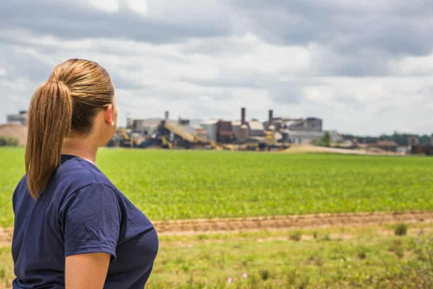 'It's a feeling of debt peonage, a feeling of harassment, close to living in bondage,' says Angie Provost as she looks out over the MA Patout & Son sugar mill in Jeanerette, Louisiana.