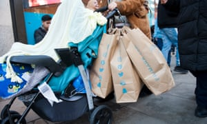 a shopper with primark bags