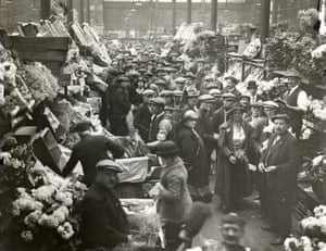 Covent Garden Market, floral hall,  c.1910