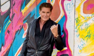 David Hasselhoff at East Side Gallery, September 2019.