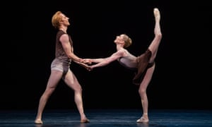the Royal Ballet's Steven McRae and Sarah Lamb in The Illustrated Farewell by Twyla Tharp at the Royal Opera House, London