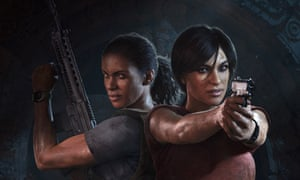 Uncharted: The Lost Legacy's lead characters Nadine and Chloe.