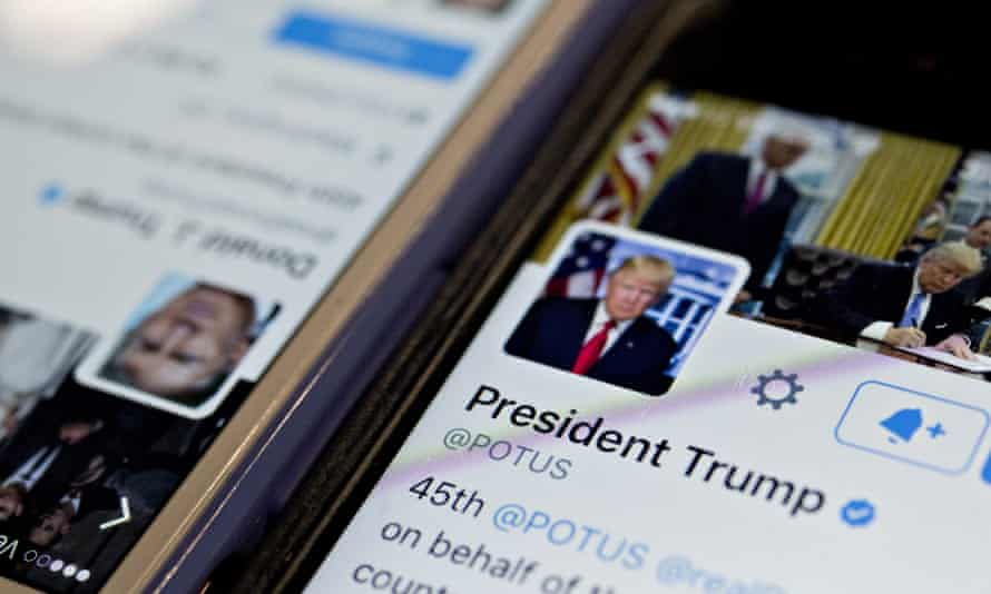 Trump's Twitter account. Is it the constitutional right of all Americans to start an online flame war with the politician of their choice?