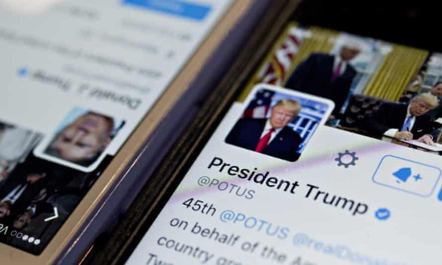 Donald Trump's Twitter account.