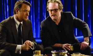 Charlie Wilson's War: congressman Charlie Wilson (Tom Hanks) and CIA agent Gust Avrakotos Philip Seymour Hoffman