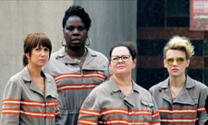 Kristen Wiig, Leslie Jones, Melissa McCarthy and Kate McKinnon in Ghostbusters directed by Paul Feig