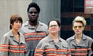 'It's not a man, woman, race, class thang!!' … the forthcoming all-female Ghostbusters, from left, with Kristen Wiig, Leslie Jones, Melissa McCarthy and Kate McKinnon.