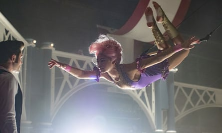 Zac Efron, left, and Zendaya in The Greatest Showman.