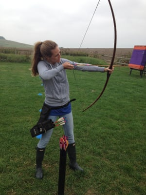 Learning to fire a long bow