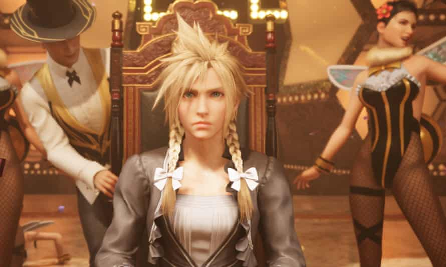 Cloud dresses up for a side-quest in Final Fantasy VII Remake