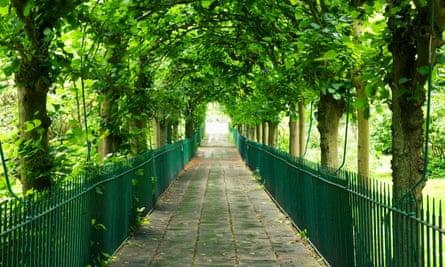 Birdcage Walk, a path through a church graveyard in Clifton, Bristol