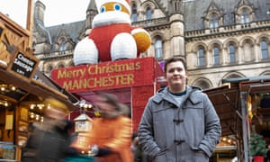 Luke Collinson pictured at Manchester's Christmas market