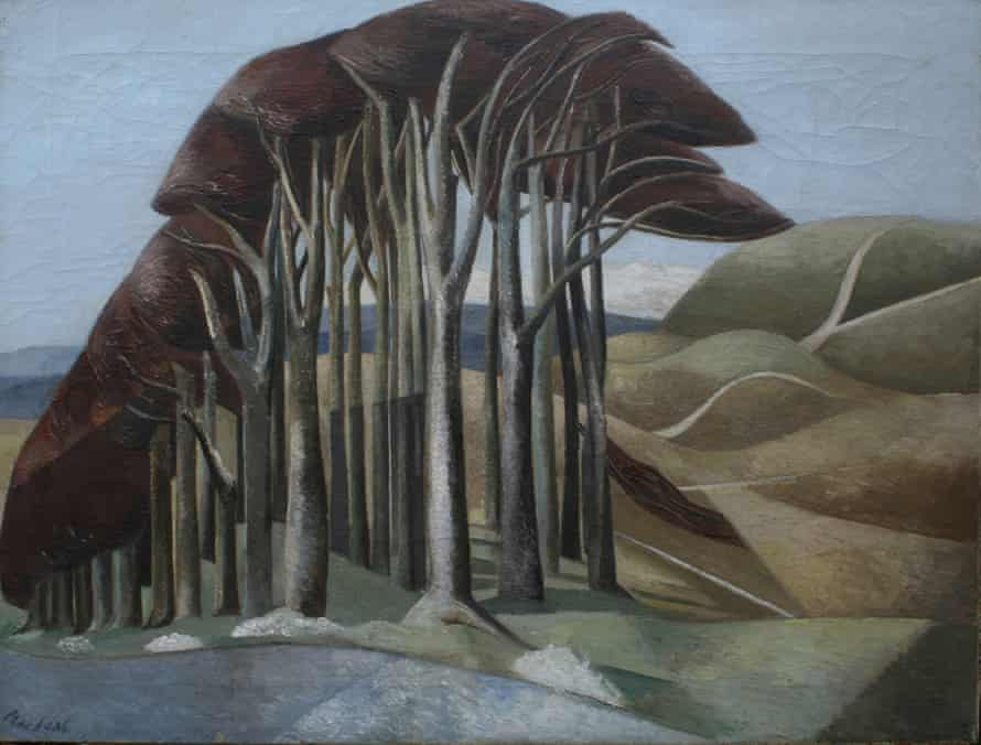 Wood on the Downs, 1930, by Paul Nash.