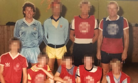 Barry Bennell in Manchester City kit in 1983